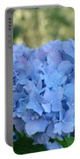 Blue Hydrangea Flower Art Prints Baslee Troutman Portable Battery Charger
