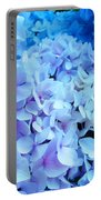 Blue Hydrangea Flowers Art Print Baslee Troutman Portable Battery Charger