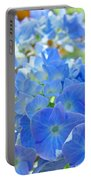 Blue Hydrangea Flowers Art Prints Summer Hydrangeas Baslee Portable Battery Charger