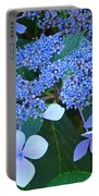 Blue Hydrangea Flowers Floral Art Baslee Troutman Portable Battery Charger