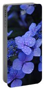 Blue Hydrangea Portable Battery Charger