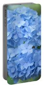 Blue Hydrangea Petals Portable Battery Charger