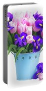 Blue And Pink Portable Battery Charger