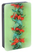 Blue Jade And Huapala Lei Portable Battery Charger