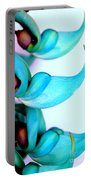 Blue Jade Florets Portable Battery Charger