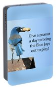 Blue Jay And A Peanut Portable Battery Charger