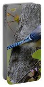 Blue Jay In Red Bud Portable Battery Charger