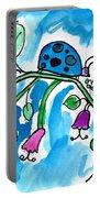 Blue Ladybug Portable Battery Charger
