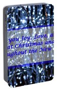 Blue Lights Abstract Christmas Portable Battery Charger