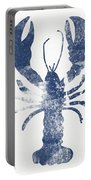 Blue Lobster- Art By Linda Woods Portable Battery Charger