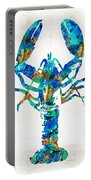 Blue Lobster Art By Sharon Cummings Portable Battery Charger
