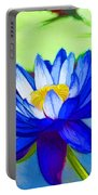 Blue Lotus Flower Portable Battery Charger