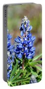 Blue Lupines Portable Battery Charger