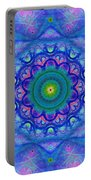 Blue Mandala For Heart Chakra Portable Battery Charger