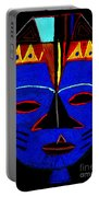 Blue Mask Portable Battery Charger by Angela L Walker
