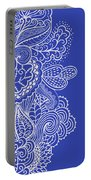Blue Mehndi Portable Battery Charger