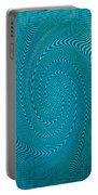 Blue Metal Spca Portable Battery Charger
