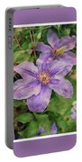 Blue Mist Clematis Portable Battery Charger