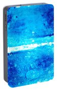 Blue Modern Art - Two Pools - Sharon Cummings Portable Battery Charger