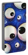 Blue Monster Eyes Portable Battery Charger