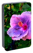 Blue Moon Hibiscus Portable Battery Charger
