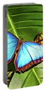 Blue Morpho Butterfly 2 - Paint Portable Battery Charger