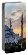 Blue Mosque At Sunset Portable Battery Charger