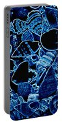 Blue Neon Shells Portable Battery Charger