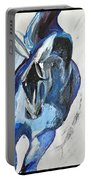 Blue Olympic Horse  Portable Battery Charger