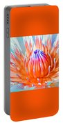 Blue Orange Lily Portable Battery Charger