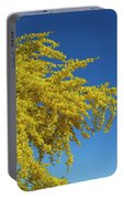 Blue Palo Verde Tree-signed-#2343 Portable Battery Charger