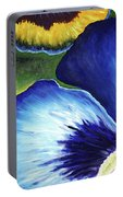 Blue Pansies  Portable Battery Charger