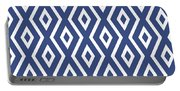 Blue Pattern Portable Battery Charger