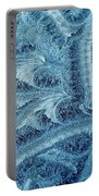 Extraordinary Hoarfrost Scallop Patterns In Blue Portable Battery Charger