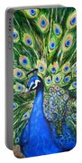 Blue Peacock Portable Battery Charger