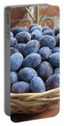 Blue Plums In A Basket Portable Battery Charger
