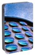 Blue Polka-dot Wave Portable Battery Charger