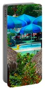 Blue Pool Umbrellas Portable Battery Charger