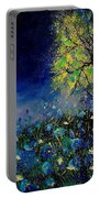 Blue Poppies And Diasies 67 Portable Battery Charger