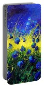 Blue Poppies Portable Battery Charger