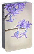 Blue Purple Flowers In White China Cup Portable Battery Charger