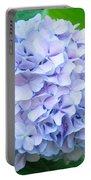 Blue Purple Hydrandea Floral Art Botanical Prints Canvas Portable Battery Charger