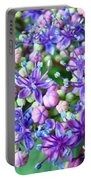Blue Purple Hydrangea Flower Macro Art Portable Battery Charger