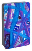 Blue Purple Paths  Portable Battery Charger