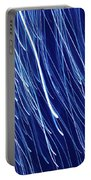 Blue Rain Abstract Portable Battery Charger