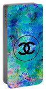 Blue Red Black Chanel Logo Print Portable Battery Charger