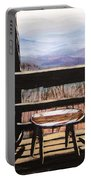 Blue Ridge Mountain Porch View Portable Battery Charger