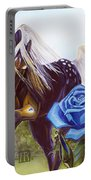 Blue Rose Unicorn Portable Battery Charger