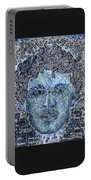 Blue Self Portrait Portable Battery Charger