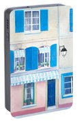 Blue Shutters Arles France Portable Battery Charger
